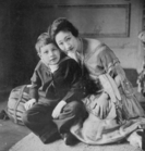 Madame Koo (then Mrs Caulfield-Stoker) with her eldest son, 1920