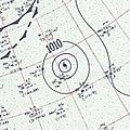 Hurricane Edith surface analysis August 28 1955.jpg