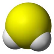 Kalottenmodell von Schwefelwasserstoff