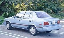 1989 hyundai excel 4-door sedan (usa)