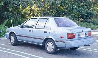 Hyundai Excel - 1989 Hyundai Excel 4-door sedan (USA)
