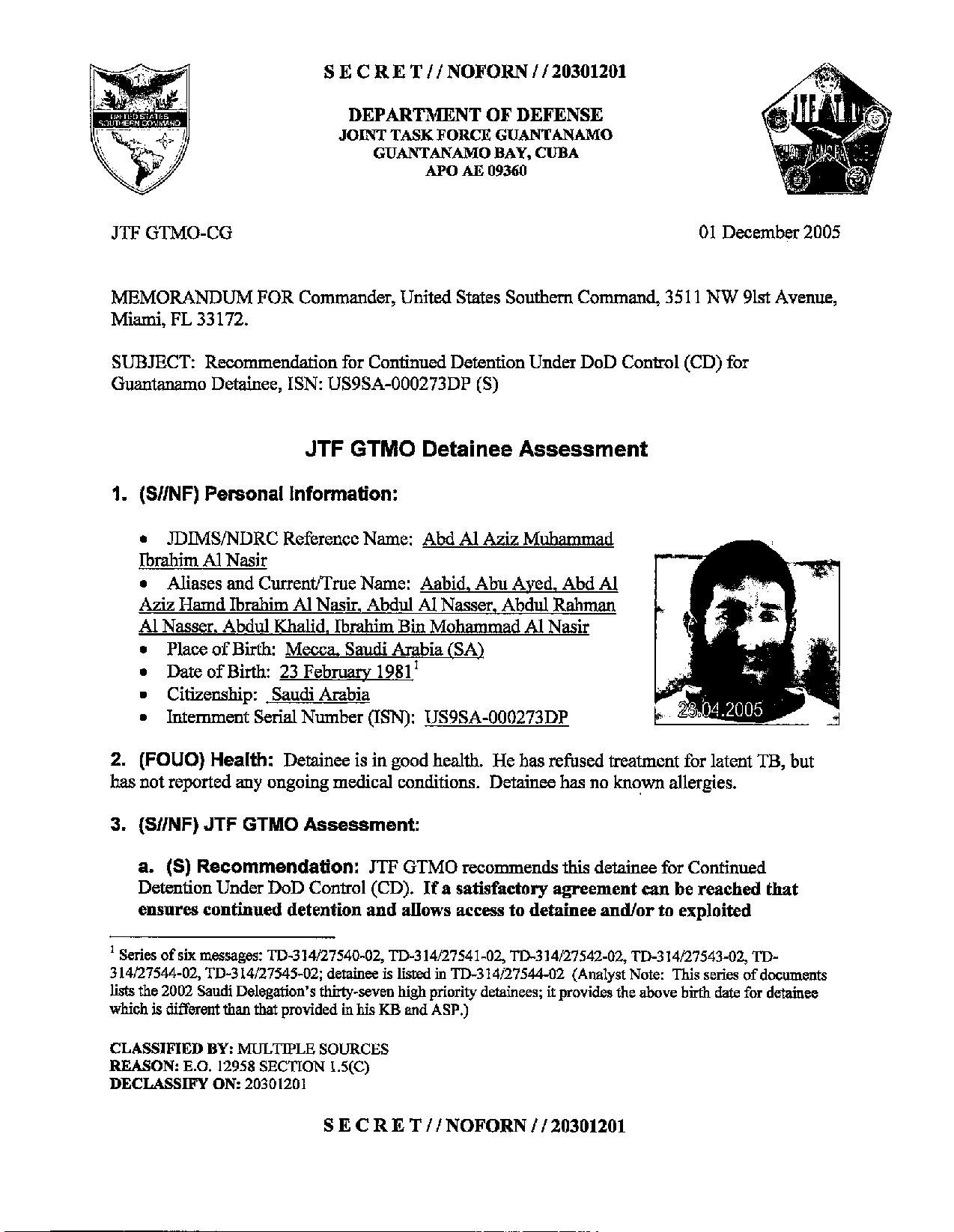ISN 273's Guantanamo detainee assessment.pdf
