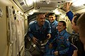 ISS-48 Welcome of Soyuz MS-01 crew on ISS.jpg