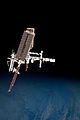 ISS and Endeavour seen from the Soyuz TMA-20 spacecraft 31b.jpg