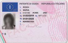 Foto patente di guida