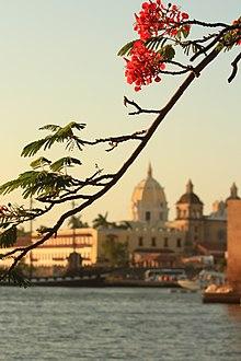 54f4251f3756 Iglesia de San Pedro Claver desde la Bahía de Cartagena