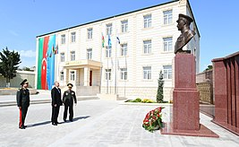 Ilham Aliyev viewed conditions created at newly-reconstructed Military Lyceum named after Jamshid Nakhchivanski 02.jpg
