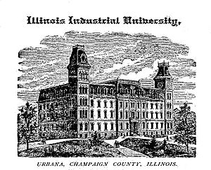 History of the University of Illinois at Urbana–Champaign - Image: Illinois Industrial University