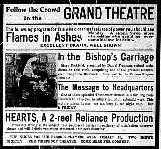 In the Bishop's Carriage - Newspaper advertisement
