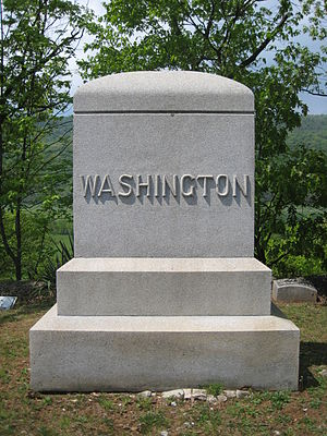 Washington Bottom Farm - The Washington family burial plot in Indian Mound Cemetery in Romney, West Virginia.