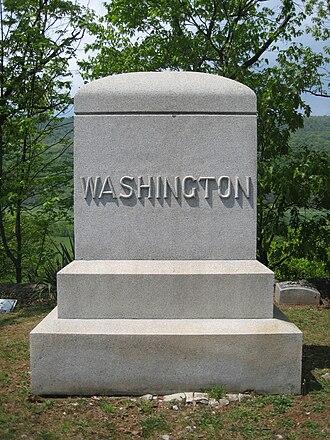 Washington Bottom Farm - The Washington family burial plot in Indian Mound Cemetery in Romney, West Virginia.