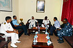 Indian Navy officials call on the Chief of the Djiboutian Navy.JPG