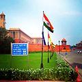 Indian flag near parliament.jpg