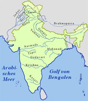 Flüsse in Indien