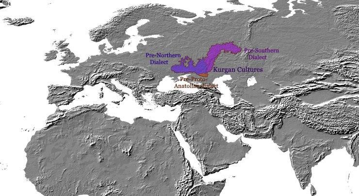 Indo-european - kurgan - 4000 BC - map