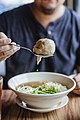 Indonesian bakso, with noodle and bean sprouts, April 2018 (01).jpg
