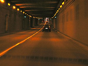 George Massey Tunnel - Descending into the Massey Tunnel