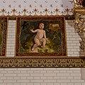 Interieur, bel-etage, achterzijde rechts (Vestibule van de wachtkamer eerste klasse), muurschildering, De maand maart - Amsterdam - 20392764 - RCE.jpg
