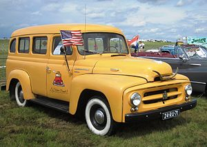 Sport utility vehicle - 1953 International Harvester Travelall, an early SUV-type vehicle