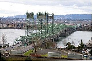 Interstate Bridge Highway bridge crossing the Columbia River between Portland, Oregon and Vancouver, Washington