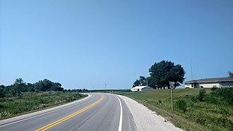 Iowa Highway 92 - Iowa 92 east of Greenfield