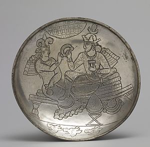 Sasanian art - Silver plate, 6th century