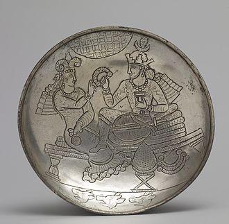Sasanian art - Silver plate, 6th century