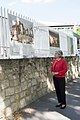 Irina Bokova, Director-General of UNESCO looks at the Journeys Through Our Fragile Heritage exhibtion at UNESCO HQ 02.jpg
