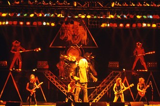 The Beast on the Road - Iron Maiden performing in San Sebastián, Spain on 4 April 1982