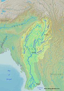 Irrawaddy River Map Irrawaddy River   Wikipedia
