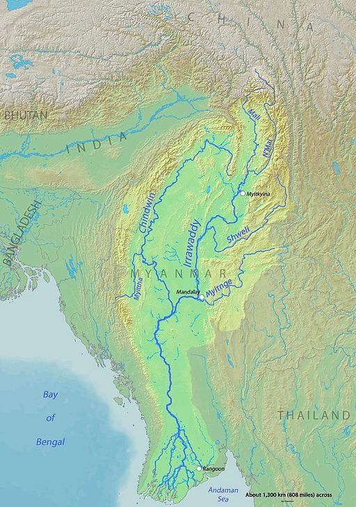 Irrawaddy Karte