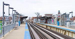 Irving Park station (CTA Brown Line) - Image: Irving Park CTA brown line station 20130216