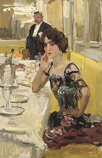 Isaac Israëls - Image: Isaac Israëls A table au Restaurant Le Perroquet, Paris