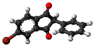 Isobromindione - Image: Isobromindione 3D ball