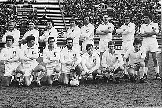 Italy national rugby union team - The lineup of the Italy national rugby union team vs France, 1975.
