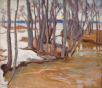 JÄRNEFELT Eero Spring Flooding in Tuusulanjärvi, 1913