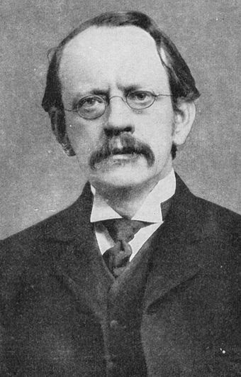 J.J. Thomson was elected to Fellow of the Royal Society in 1884. J.J Thomson.jpg