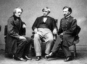 John Bingham - John Bingham (left) along with Joseph Holt (center) and Henry Burnett (right) were the three prosecutors in charge of the Lincoln assassination trial.