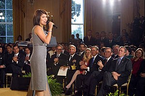 Jaci Velasquez - Velasquez performing at the White House in 2002