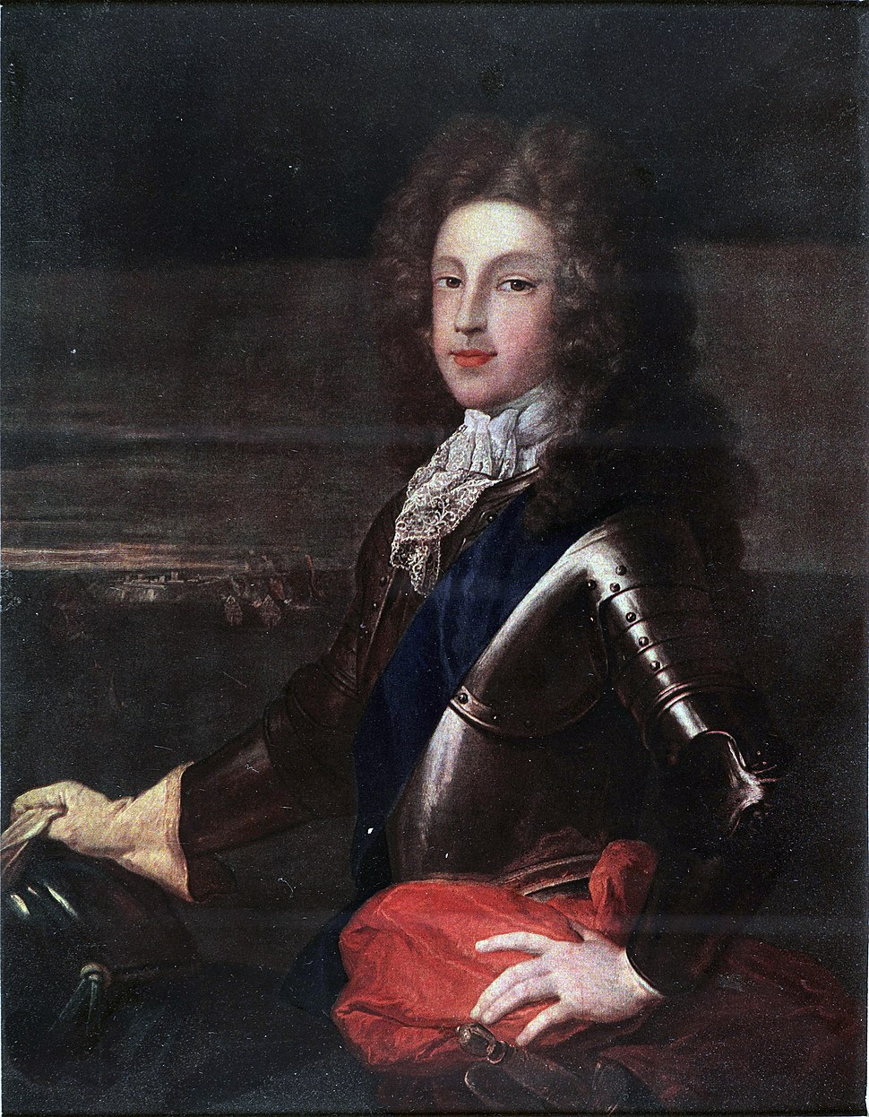 Jacobite broadside - Coloured portrait of Prince James as young man1