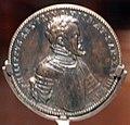 Jacopo da trezzo, medaglia di filippo II di spagna con cocchio e paesaggio, 1555, 01.jpg