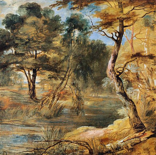 Jacques Fouquier - Wooded Landscape with a Stream - WGA08043