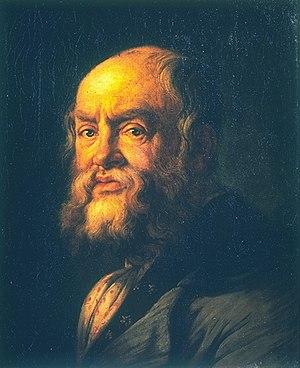 Bonaventura Genelli - Portrait of Bonaventura Genelli in 1860, by James Marshall  (1838-1902)