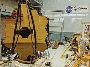 Goddard Space Flight Center - James Webb Space Telescope mirrors assembled, May 2016