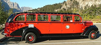 Going-to-the-Sun Road - Red Jammer bus