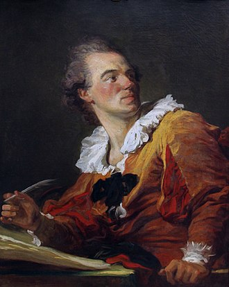 1769 in art - Fragonard – Inspiration (self-portrait)