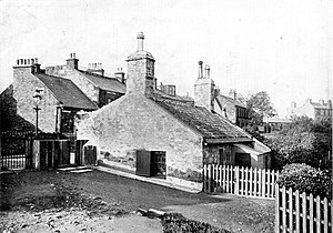 Jeanie Deans - A 19th century photo of the cottage – all that remains today is part of the back wall