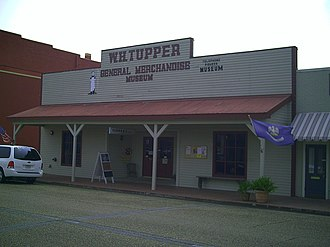 Jennings, Louisiana - The front facade of the W. H. Tupper General Merchandise Museum, circa 2008