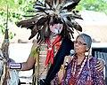 Jeri Ah-be-Hill at the Santa Fe Indian Market 2014.jpg