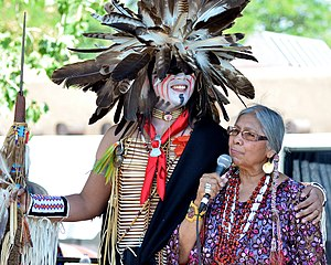 Jeri Ah-be-Hill at the Santa Fe Indian Market 2014.jpg